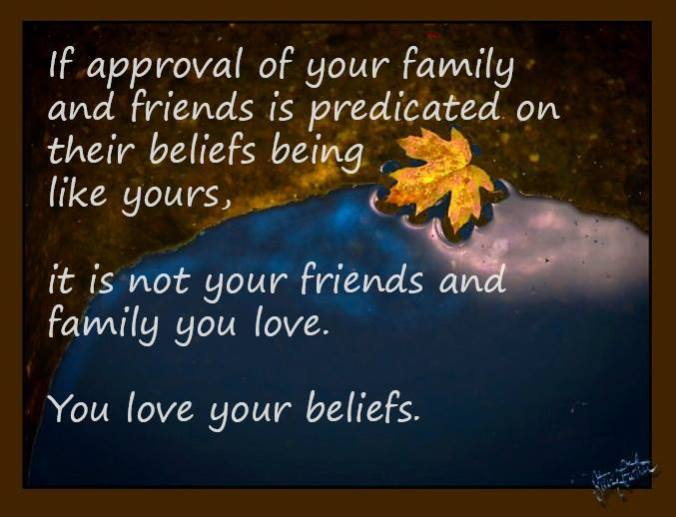 if approval of your family